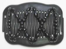 """Double Magic Hair Comb, Angel Wings Clips 4x3.5"""", African Butterfly, BLACK, MS55"""