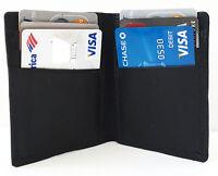 Black Men's Leather 6 Credit Card Holder Thin Bifold Front Pocket Wallet