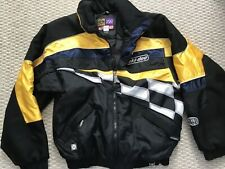 Men's Ski-doo snowmobile jacket Large black yellow