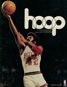 1974 Vintage NBA Hoop Magazine Milwaukee Bucks @ Washington Bullets Cap Centre