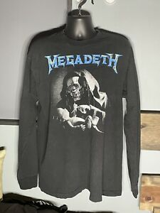 Vintage 90s Megadeth Youthanasia T-Shirt XL Made In USA Black Long Sleeve