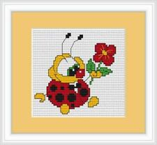 Ladybird with Flower Mini Cross Stitch Kit by Luca S B062