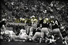 1970 SD Chargers @ Oakland Raiders - Action Shot - Vintage NFL Football Negative