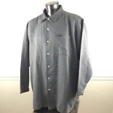 Fubu Sport Collection 2XL XXL Button Down Front Long Sleeve Dress Shirt Gray