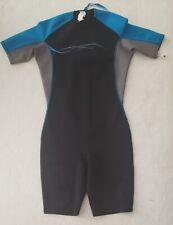 New listing Oxylane Tribord Spring Suit Men's SIze L Swim Black Blue Wetsuit Zip Back
