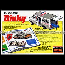DINKY TOYS 1976 FORD TRANSIT AMBULANCE (276) - Pub / Publicité / Advert Ad #B361