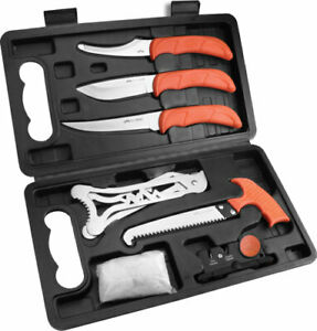 Outdoor Edge Jaeger Pak Eight Piece Game Processing Set w/ Hard Side Case
