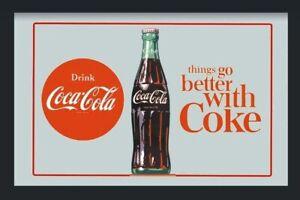 Coca Cola Bouteille Better Miroir 30 CM Miroir Mural BAR Pub Restaurant