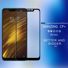 Xiaomi Pocophone F1//Poco F1 Case-Friendly Tempered Glass Screen Protector Black