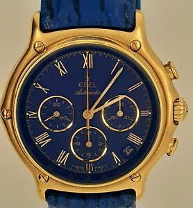 Ebel 1911 Chronograph El Primero Gold Neuwertig 8134901 mit Box
