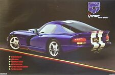 Carroll Shelby Dodge Hemi Viper GTS Racing Poster SCCA Vintage Muscle Car NHRA