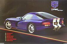 Carroll Shelby Dodge Hemi Viper GTS Racing Poster SCCA Vintage Muscle Car NHRA