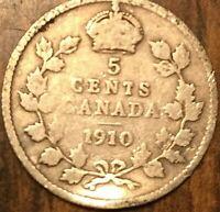 1910 CANADA SILVER 5 CENT