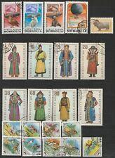 Mongolei, gestempelte Briefmarken, 2 Scans, komplette Sätze
