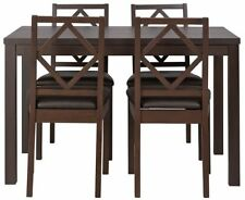 Dining Room Walnut Up to 4 Unbranded Table & Chair Sets