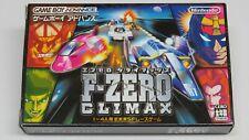 F-Zero Climax Nintendo Game Boy Advance Japan Original NEAR-MINT Battery Works