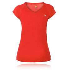Magliette da donna rosse con scollo a v
