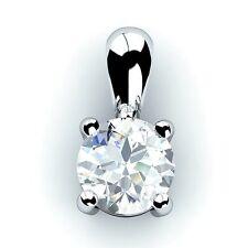 Wedding White Gold SI2 Fine Diamond Necklaces & Pendants