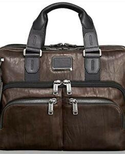 Tumi Albany Slim Commuter leather laptop/workbag. Brown. Stunning! BNWT
