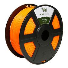 Fluorescent Orange PLA 1.75mm WYZworks 3D Printer Premium Filament 1kg/2.2lb