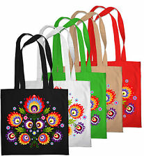 Shopping Bag Eco Friendly Folk Floral Print Shopper Tote Beach Shoulder Handbag