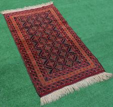 Turkoman Rug 32''x53'&# 039; Handwoven Carpet 82x136cm Boho Eclectic Oriental Rug