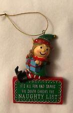 Girl Elf - Christmas Tree Decoration - Naughty List - Brand New