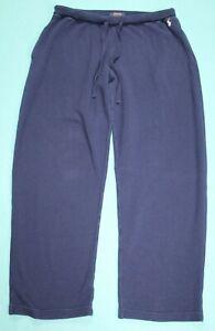POLO Ralph Lauren Mens Thermal Waffle Knit Lounge Pants Size L Blue GUC #15593