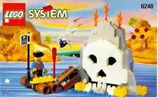 LEGO VOLCANO ISLAND 6248 Set Pirates 2 minifigs minifigures skull classic