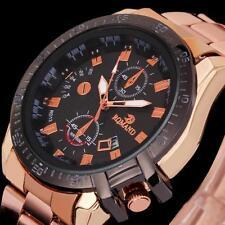 Luxury Men's Stainless Steel Date Quartz Analog Sport Fashion Wrist Watches Gift