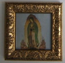"""Guadalupe - Ornate Gold  Framed picture -4"""" x 4"""""""