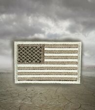 A-TACS Desert Tan Camo American Flag Patch with Backing