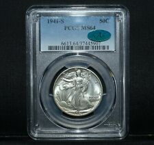 1941-S WALKING LIBERTY HALF DOLLAR ✪ PCGS MS-64 CAC ✪ 50C CHOICE L@@K ◢TRUSTED◣