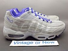 Women's Nike Air Max '95 Wolf Grey White Pure Purple Running Shoes 2012 sz 8