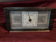 Vintage Airguide Art Deco Desktop Weather Station Barometer Temperature Humidity