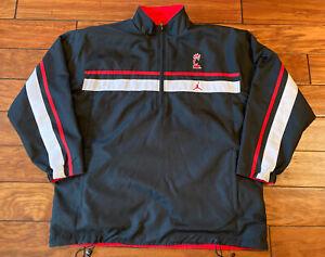 University Of Cincinnati Bearcats Air Jordan Lined Pull Over Jacket 1/2 Zip