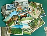 Lot of 60+ Vintage Postcards, USA 1907-1970's. Excellent Value, Great Mixture.