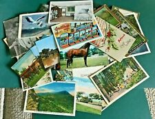 Lot of 60+ Vintage Postcards, USA 1907-1970's. Excellent Value, Great Mixture.