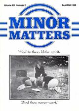 "MORRIS MINOR OWNERS CLUB MAGAZINE - ""MINOR MATTERS""  (September/October 1990)"