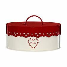 Premier Housewares Anglaise Cake Tin, Cream/Red