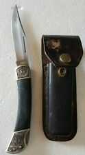 Vintage folding Excalibur Knife and pouch