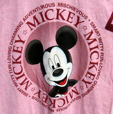 Mickey Mouse Night Shirt Nightgown Women One Size Heather Pink Mickey Unlimited