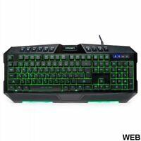 Tastatur Gaming Multimedia 10 Buttons Mit 7 Retroilluminazioni LED