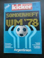 Kicker Sportmagazin Sonderheft  WM 1978 Argentinien