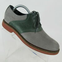Cole Haan Air Harrison Eva Saddle Gray Nubuck Oxford Dress Shoes Mens Size 8.5