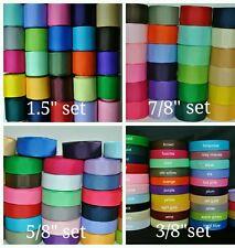 "grosgrain ribbon wholesale 6 sets  1/4"",3/8"",5/8"",7/8"",1.5"",2 1/4""  for hair bow"