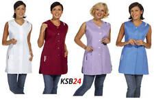 Damen-Longkasack Kasack Kittel Leiber 09-1246 ohne Arm 4 Farben