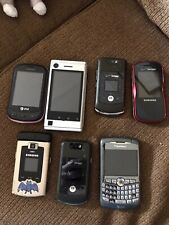 7 Used Old Cell Phones.