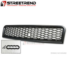 For 02-05 Audi A4 B6 Matte Blk RS Honeycomb Mesh Front Hood Bumper Grill Grille