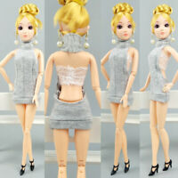 Backless Clothes for Barbie Dolls Party Dress Outfits For 1/6 BJD Dolls Kids Toy
